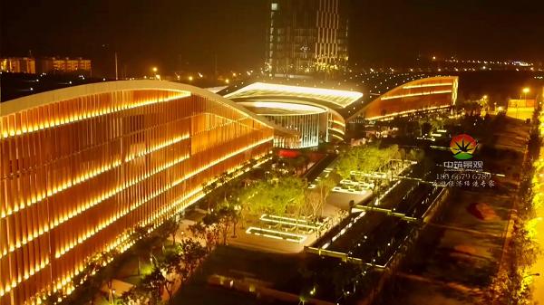 青白江文体中心夜景亮化工程