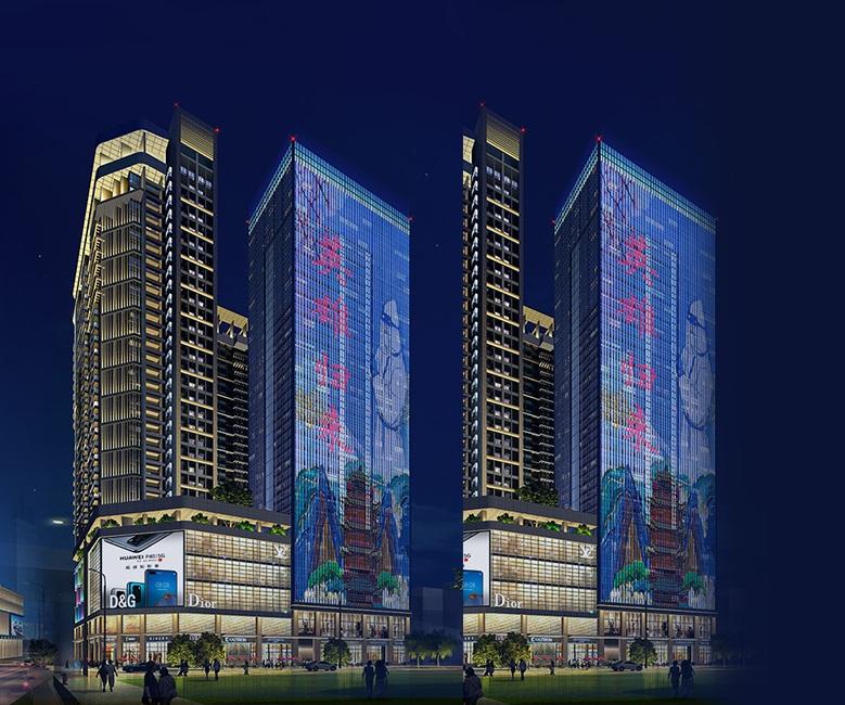 如何突出楼宇亮化工程的层次感?